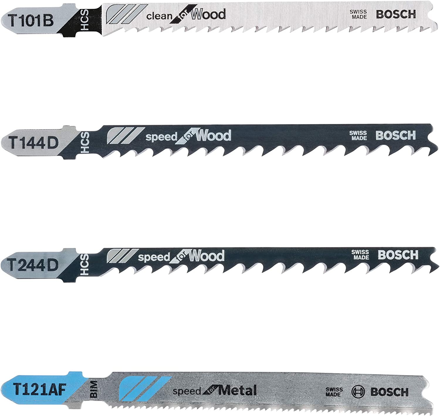 BOSCH 10 PIECE ASSORTMENT JIG SAW BLADES TO FIT BLACK AND DECKER AND SIMILAR