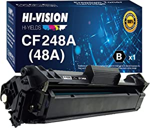 1-Pack HI-Vision Compatible HP 48A Toner Cartridge CF248A 248A Replacement for HP Laserjet Pro M15w M15a M16w M16a MFP M29w M29a M28w M28a Printer (Black)