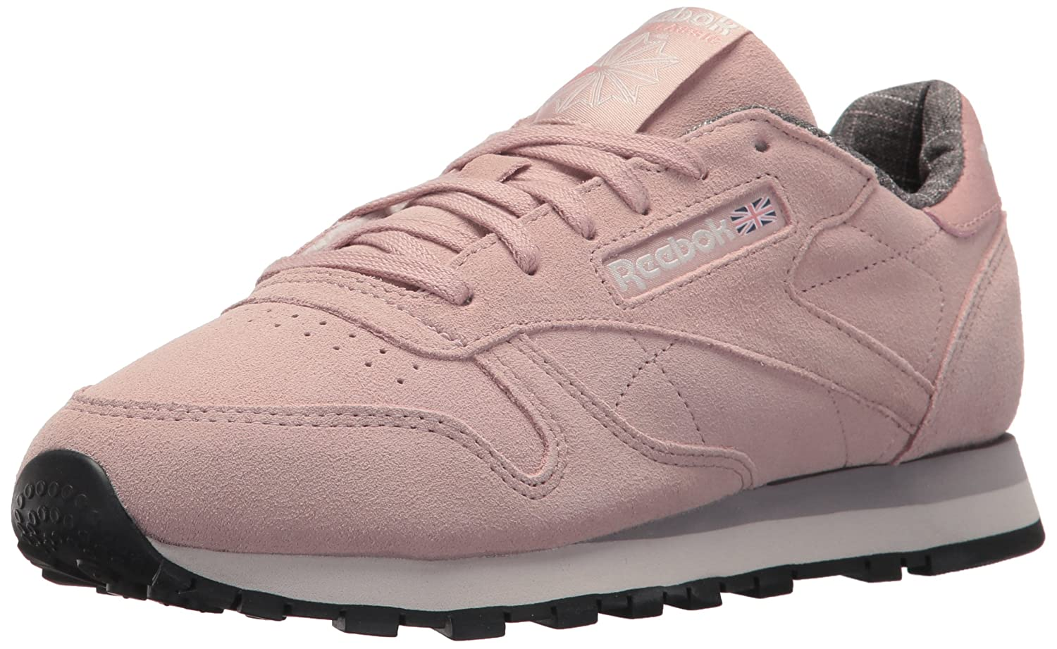 Reebok Women's Cl Lthr W&w Sneaker B074V1QV6Y 9.5 B(M) US|Shell Pink/Whisper Grey/Leather