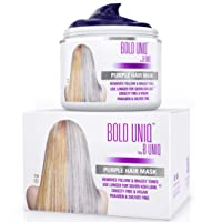 Purple Hair Mask for Blonde, Platinum & Silver Hair - Banish Yellow Hues: Blue Masque...