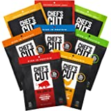 Chef's Cut Tender Real Beef, Chicken, Turkey, and Bacon Jerky, Deluxe Variety Pack, 8 Count