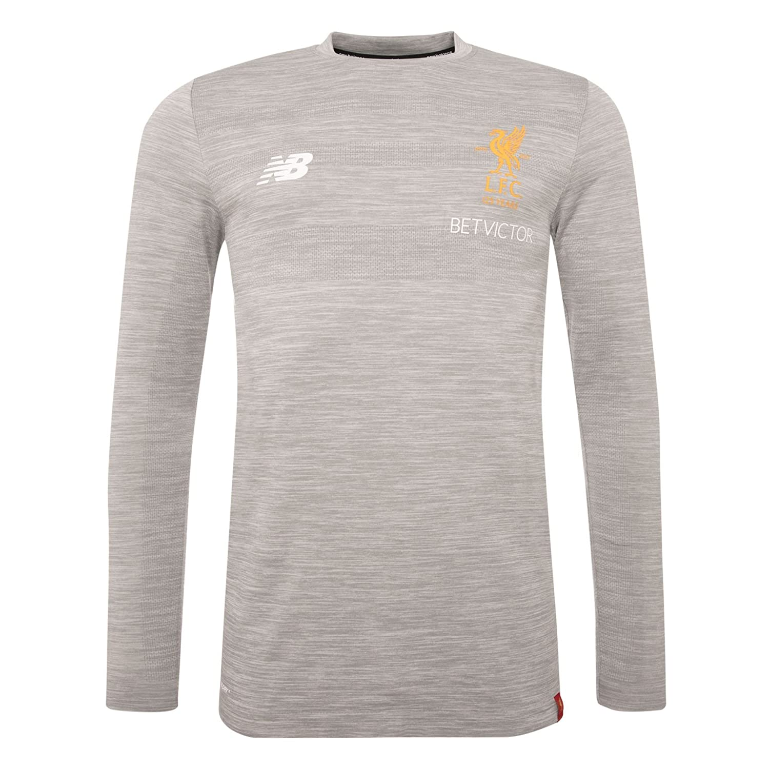 Liverpool FC LFCメンズグレーMarlトレーニングPower Long Sleeve Jersey 17 / 18公式 B07CDR3KBDX-Large