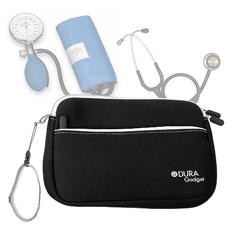 DURAGADGET Estuche De Neopreno Negro para Guardar Sus Accesorios Médicos (Estetoscopio/Tensiómetro) +