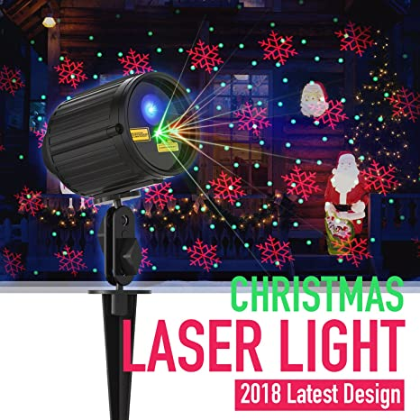 Christmas Light Projector Laser Lights Motion Outdoor Projector Star Light  Shower Red & Green 8 Patterns - Christmas Light Projector Laser Lights Motion Outdoor Projector Star