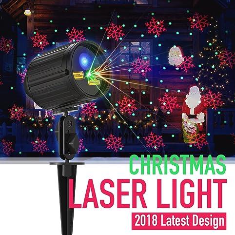 christmas light projector laser lights motion outdoor projector star light shower red green 8 patterns