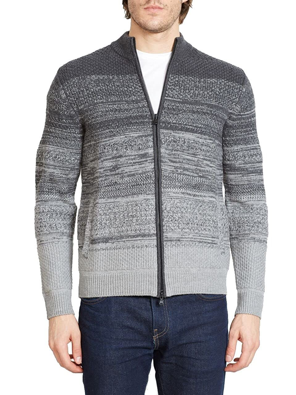 Zachary Prell Hawkins Full Zip Sweater in Grey