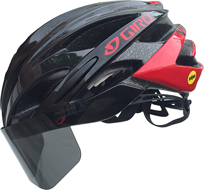 dd77b639 Amazon.com: Polar-Optics Flexfit Shield Removable Bicycle Helmet Visor  Polarized 100% UV Blocking (Slate): Sports & Outdoors