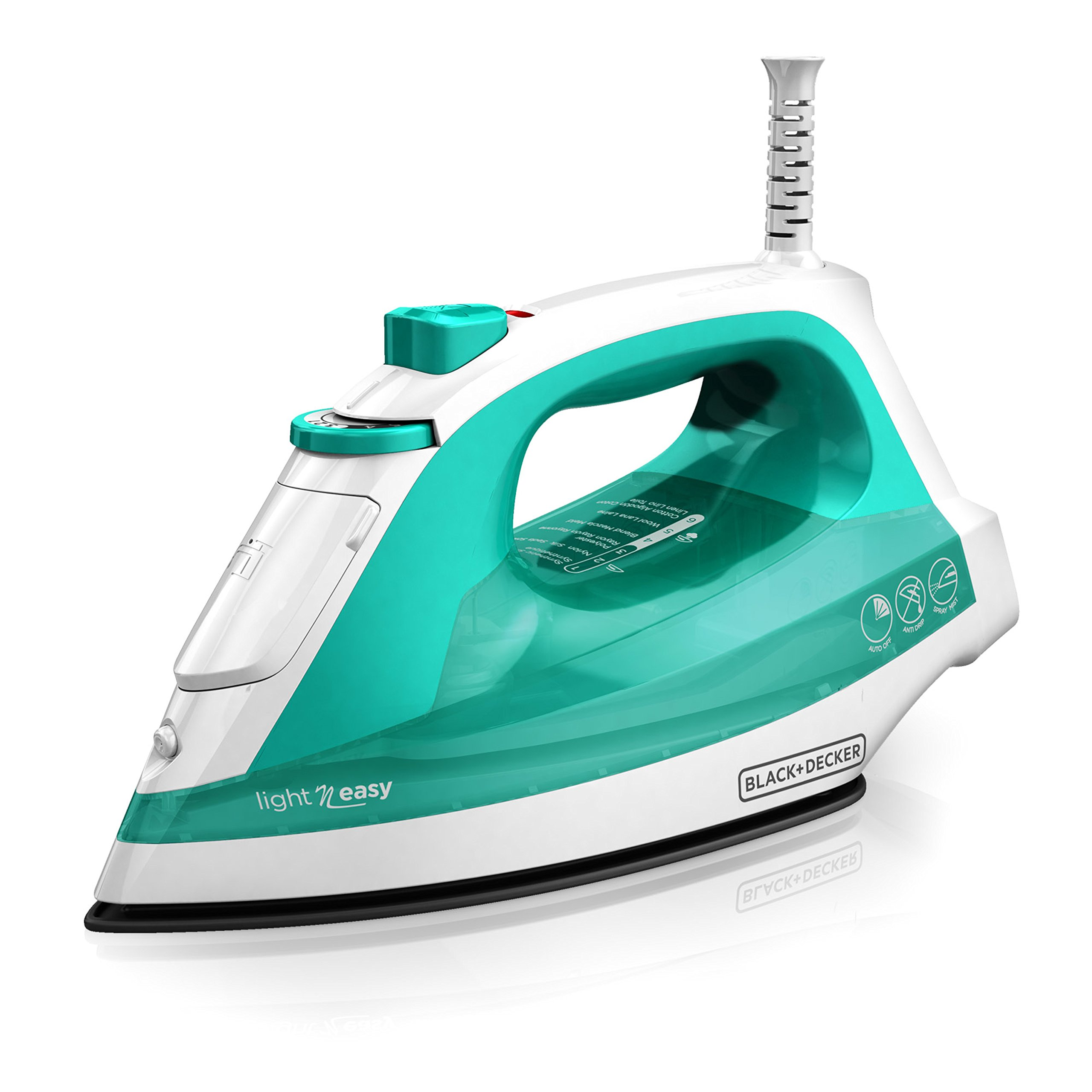 BLACK+DECKER Light 'N Easy Compact Steam Iron, Turquoise, IR1010 by BLACK+DECKER