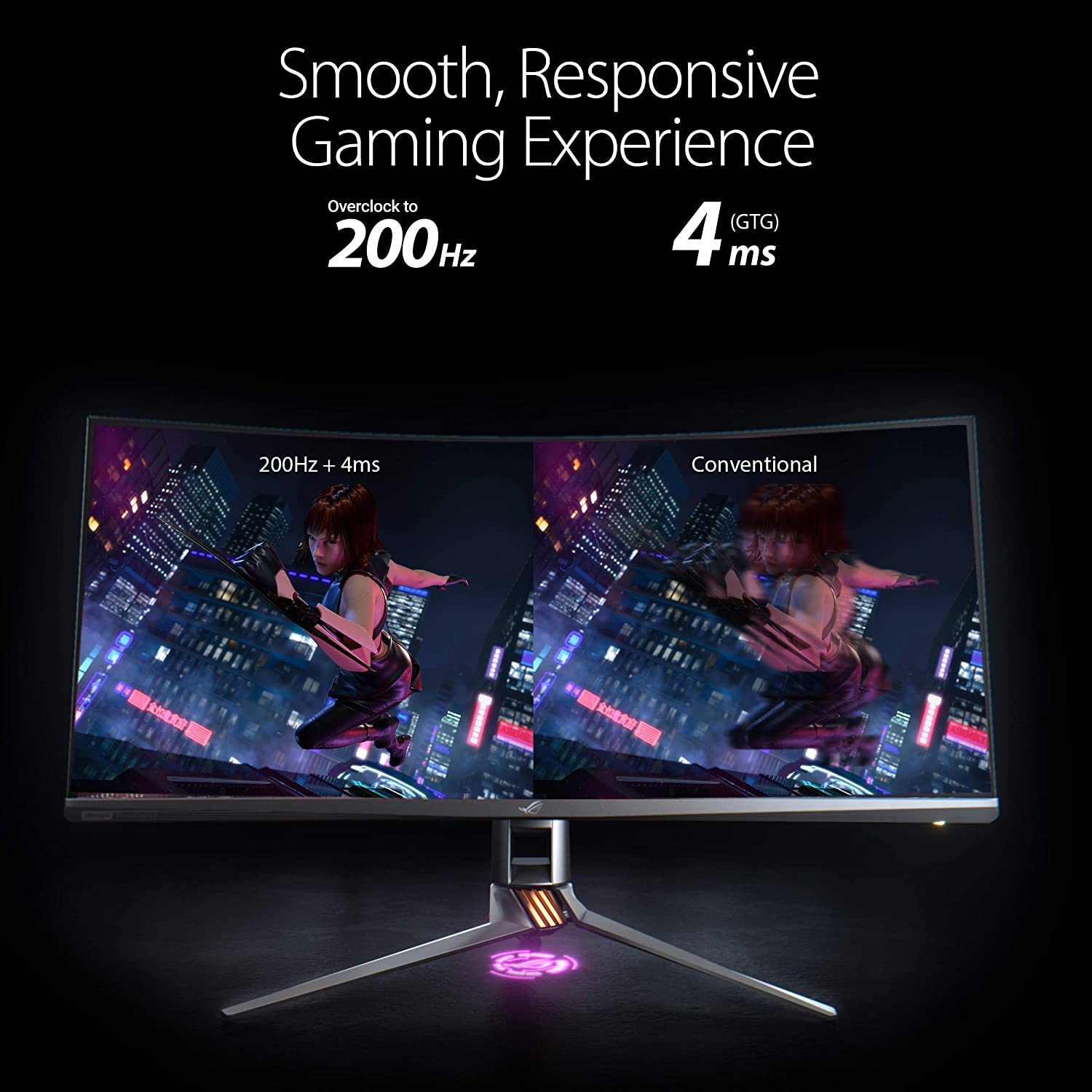 ASUS ROG Swift PG35VQ Ultra-Wide HDR Gaming Monitor, 35 Inch 21:9 (3440 x  1440), FALD 512 Zones, Overclockable 200 Hz, 2 ms, G-SYNC Ultimate, Display