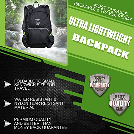 ab3486716db0 Amazon.com   Survival and Cross Backpack Ultra Lightweight 20L Hiking Travel  - Most Durable for Men and Women - Best Outdoors Camping Water Resistance  Light ...