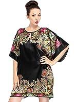 Simplicity Women's Soft Silk Batwing Sleeve Pajama Nightgown Dress