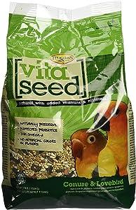 Higgins Conure & Lovebird Bird Food 2.5 Pound Bag. Complete Balanced Diet for Conures and Lovebirds