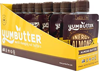 product image for Almond Butter Packets for Energy by Yumbutter, Inergy, Individual Snacks, Gluten Free, Vegan, Non GMO, 1.8oz Packet (Pack of 10)