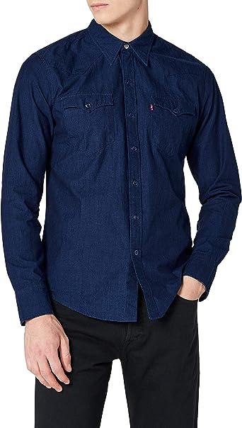 Levis Barstow Western - Camisa para Hombre - Gris: Amazon.es: Ropa y accesorios