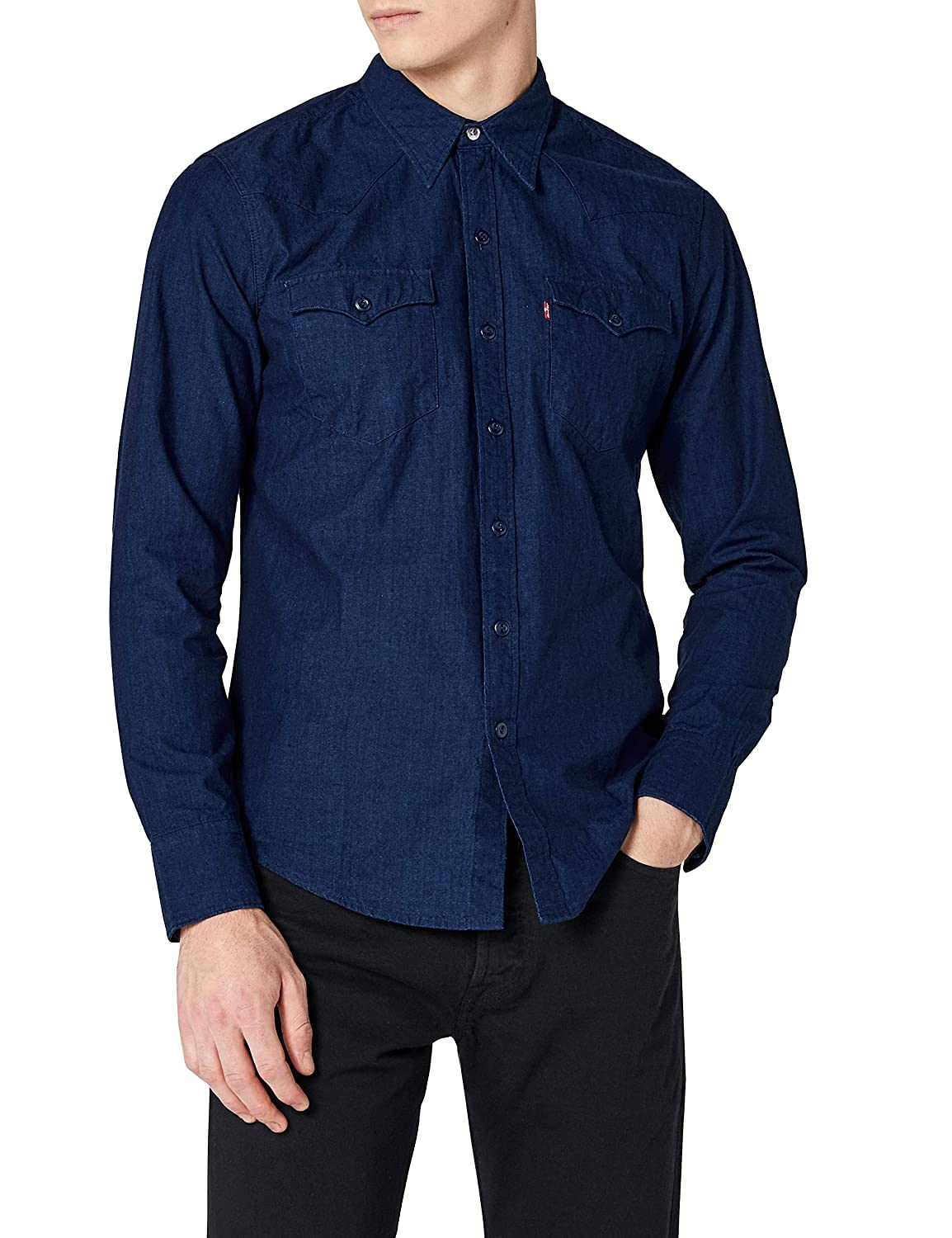 Levi's Barstow Western - Camisa para Hombre - Gris