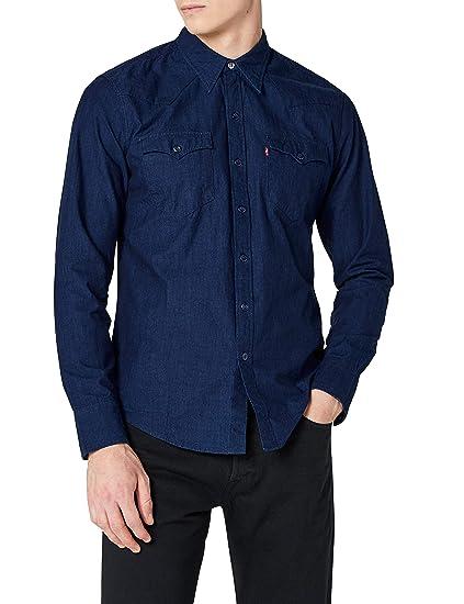 3b51afb2 Levi's Men's Barstow Western Regular Fit Casual Shirt, Blue (C32416  FENUGREEK INDIGO PATTERN MT_SD162702
