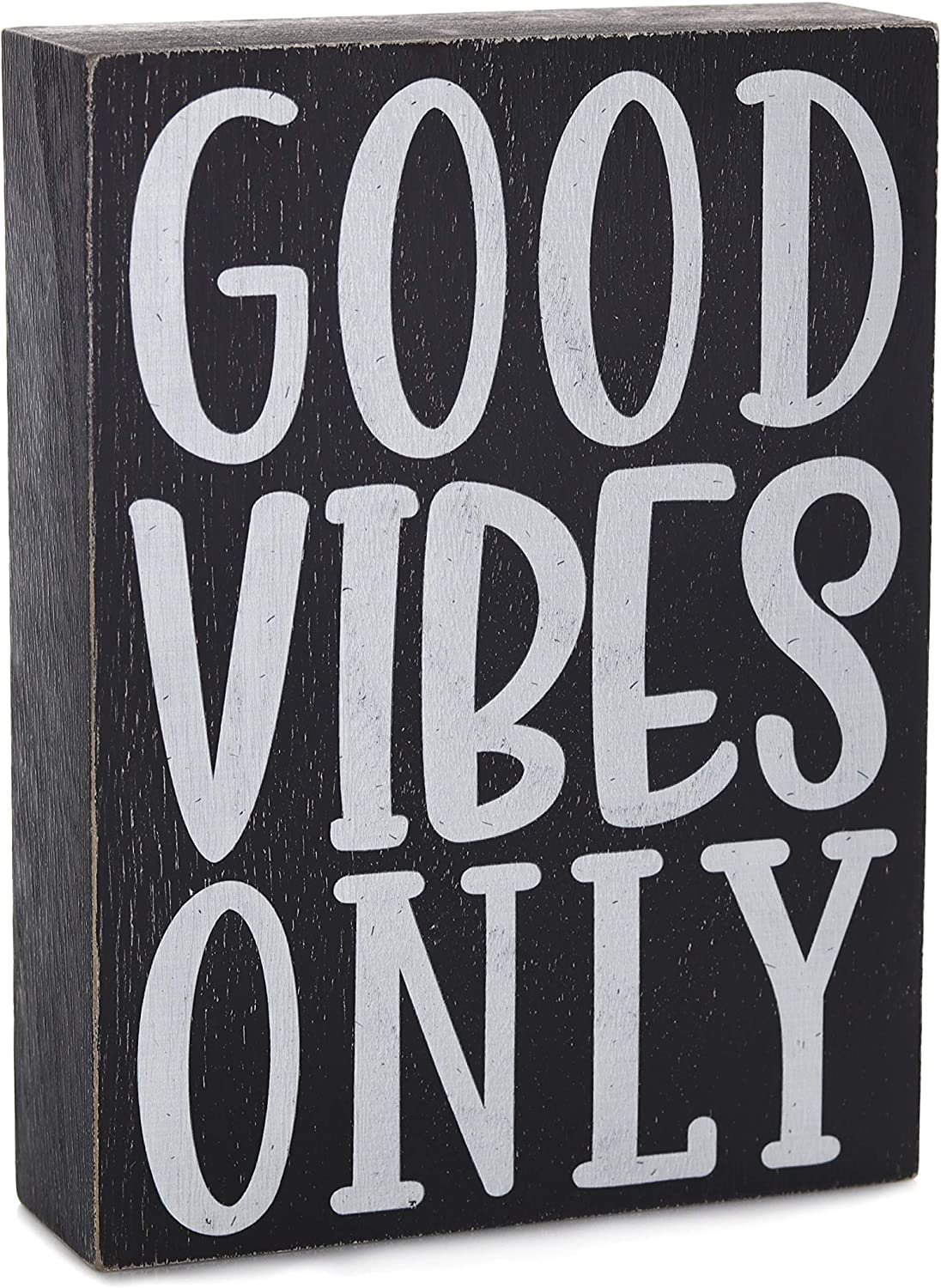 Bella Rosa Home Good Vibes Only Wall Decor - 70s Room Decor - Inspirational Desk Decor