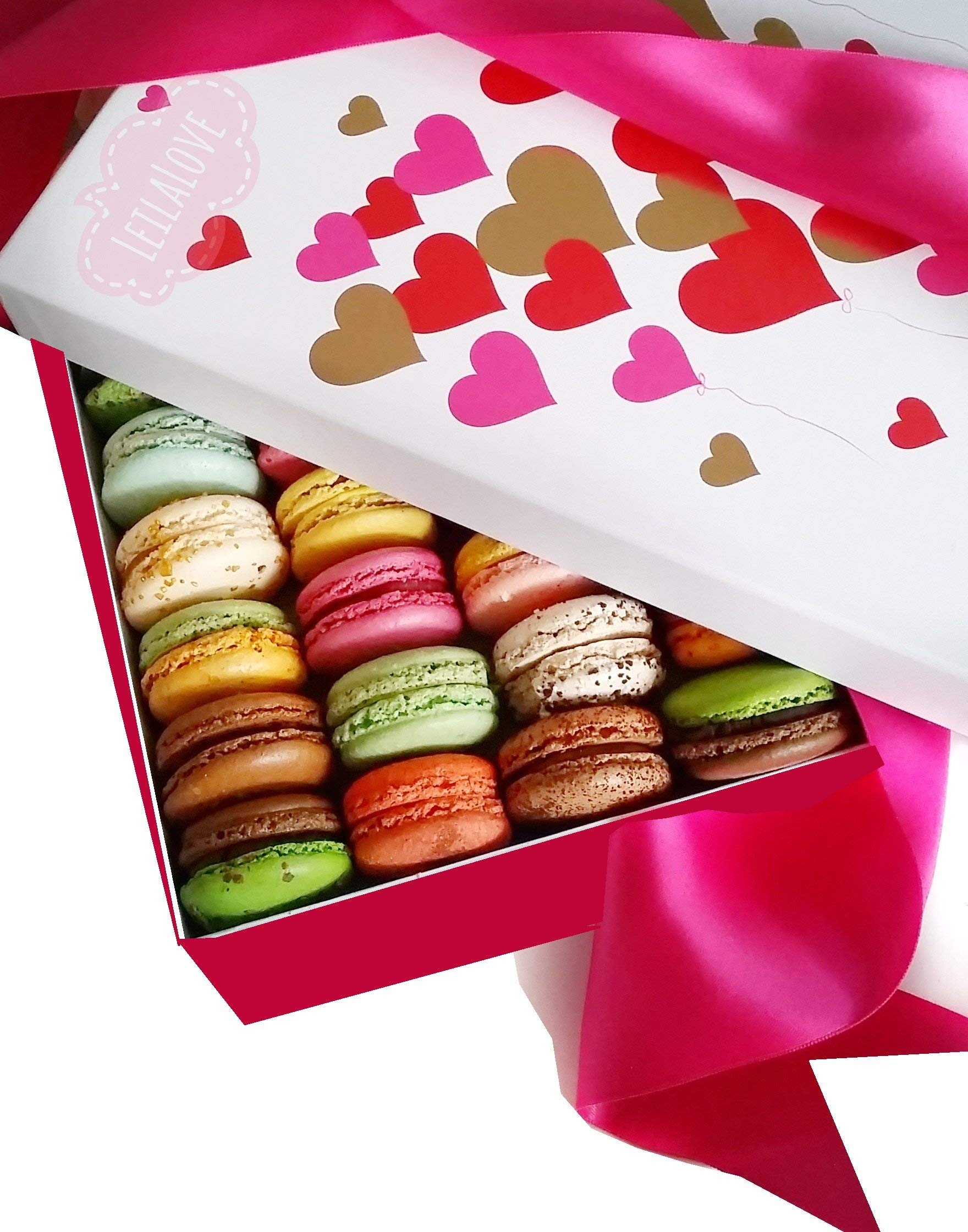 LeilaLove Macarons 21 Gourmet Macarons - Freshly baked to order - Love in Paris box by LeilaLove,Inc (Image #1)