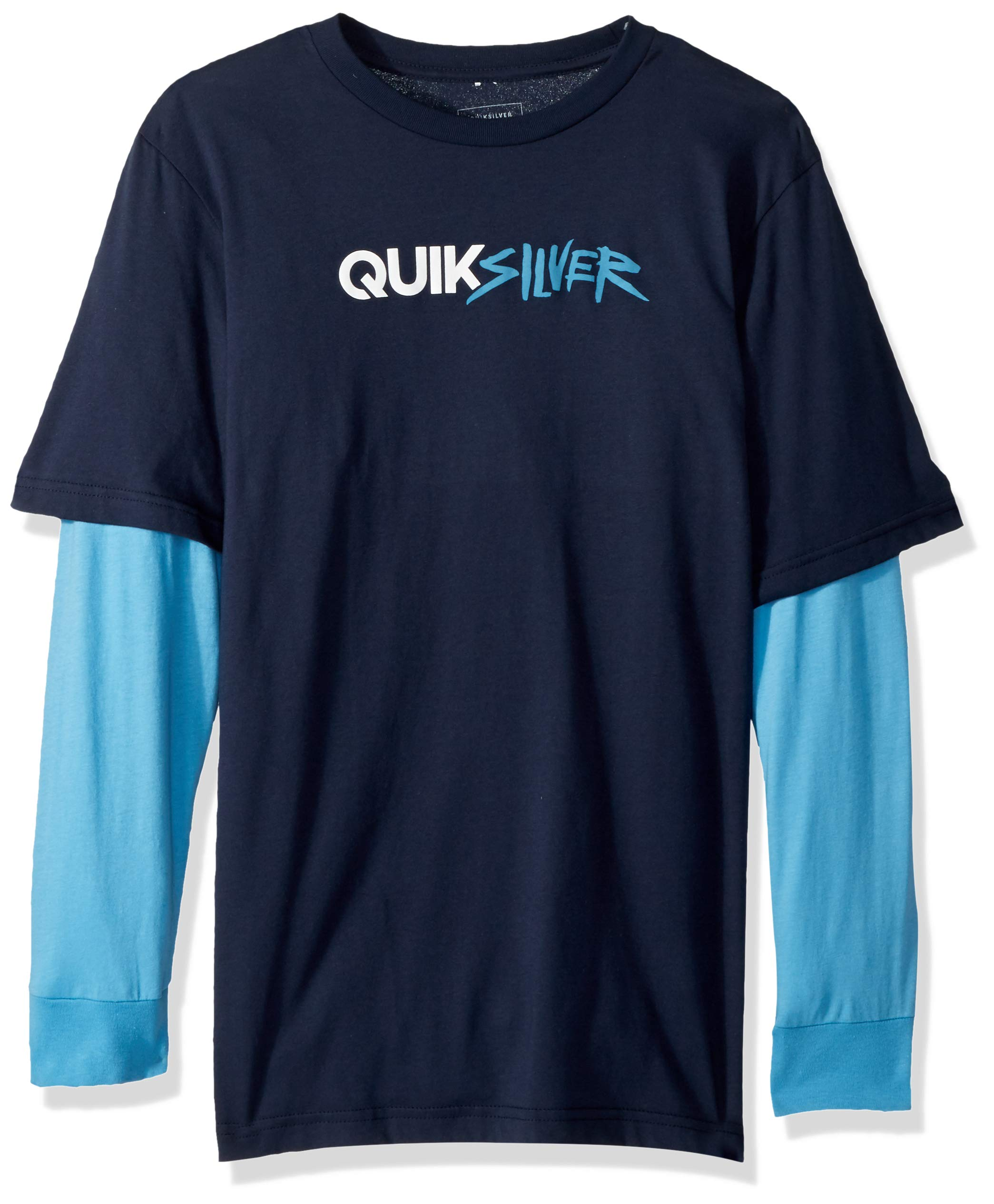 Quiksilver Big Boys' Opposites Attract Youth Long Sleeve Tee Shirt, Navy Blazer, M/12