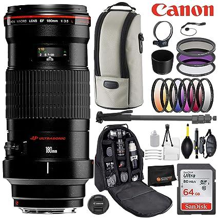Amazon com : Canon EF 180mm f/3 5L Macro USM Lens with Professional