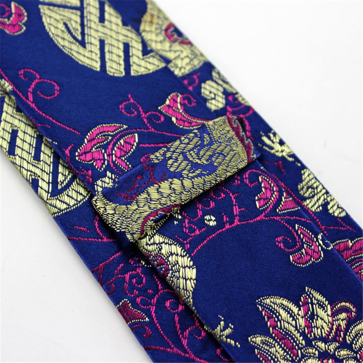 HXCMAN 7cm blue red floral Chinese dragon necktie classic design 100/% silk men tie all-match party casual business banquet wedding groom in gift box