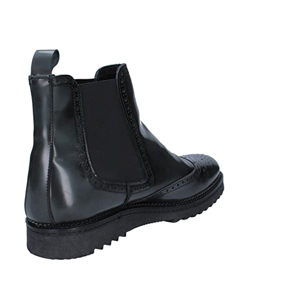 SALVO BARONE Boots Mens Leather Black
