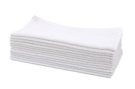 Blancas 30x30 cm ZOLLNER Juego de 10 Toallas para la Cara de algod/ón
