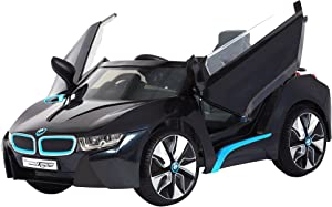 Rollplay 6V BMW I8 Kid's Ride-On Car - for Boys & Girls Ages 3 & Up - Battery-Powered Ride On Toy- Black