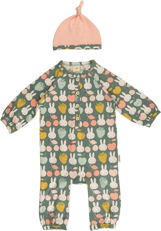 Neugeborenen Overall Baby Kleidung M/ädchen Strampler Set mit M/ütze Miffy