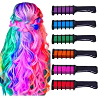 Hair Chalk for Girls,MSDADA Kids Temporary Bright Hair color, Washable Color for Kids Hair Dyeing,Birthday Gift for…