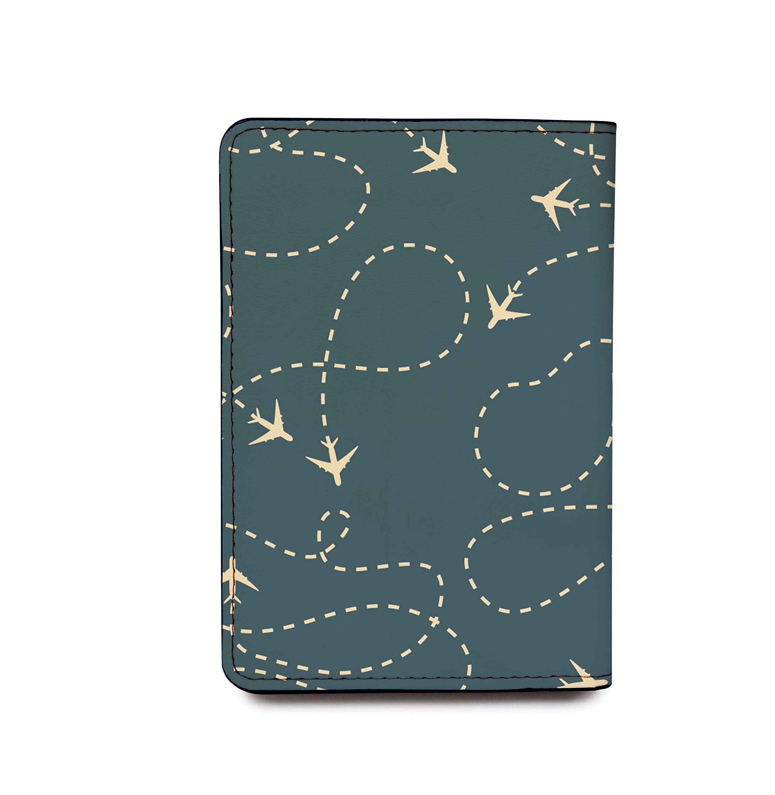 Customized RFID Blocking Leather Passport Holder Airplanes by With Love From Julie (Image #4)