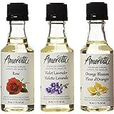 Amoretti Premium Floral Syrups 1.7-Fluid-Ounce, 3-Pack Bottles (Rose, Violet Lavender, Orange Blossom)