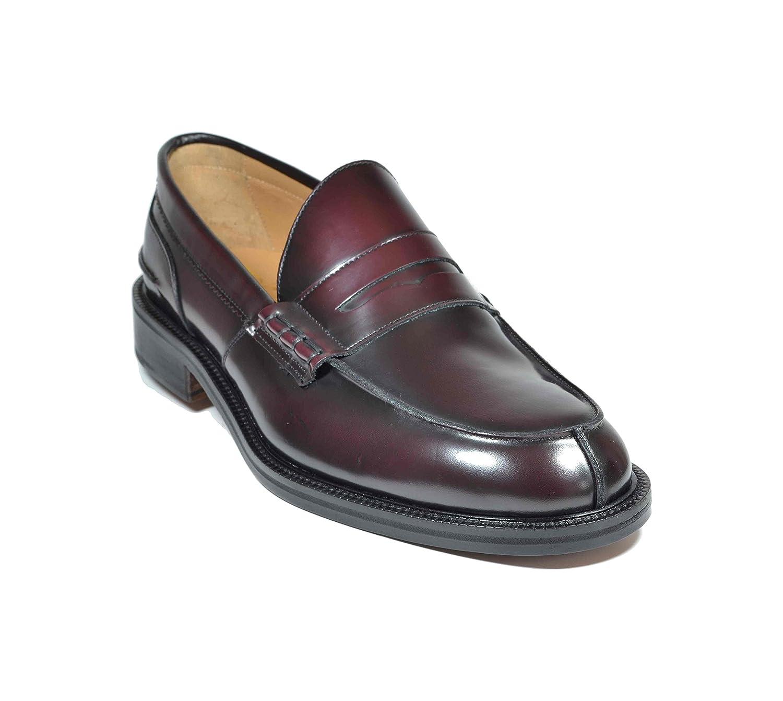 Saxone Of Scotland - Mocasines de Piel para Hombre Rojo Burdeos Rojo Size: 43.5: Amazon.es: Zapatos y complementos