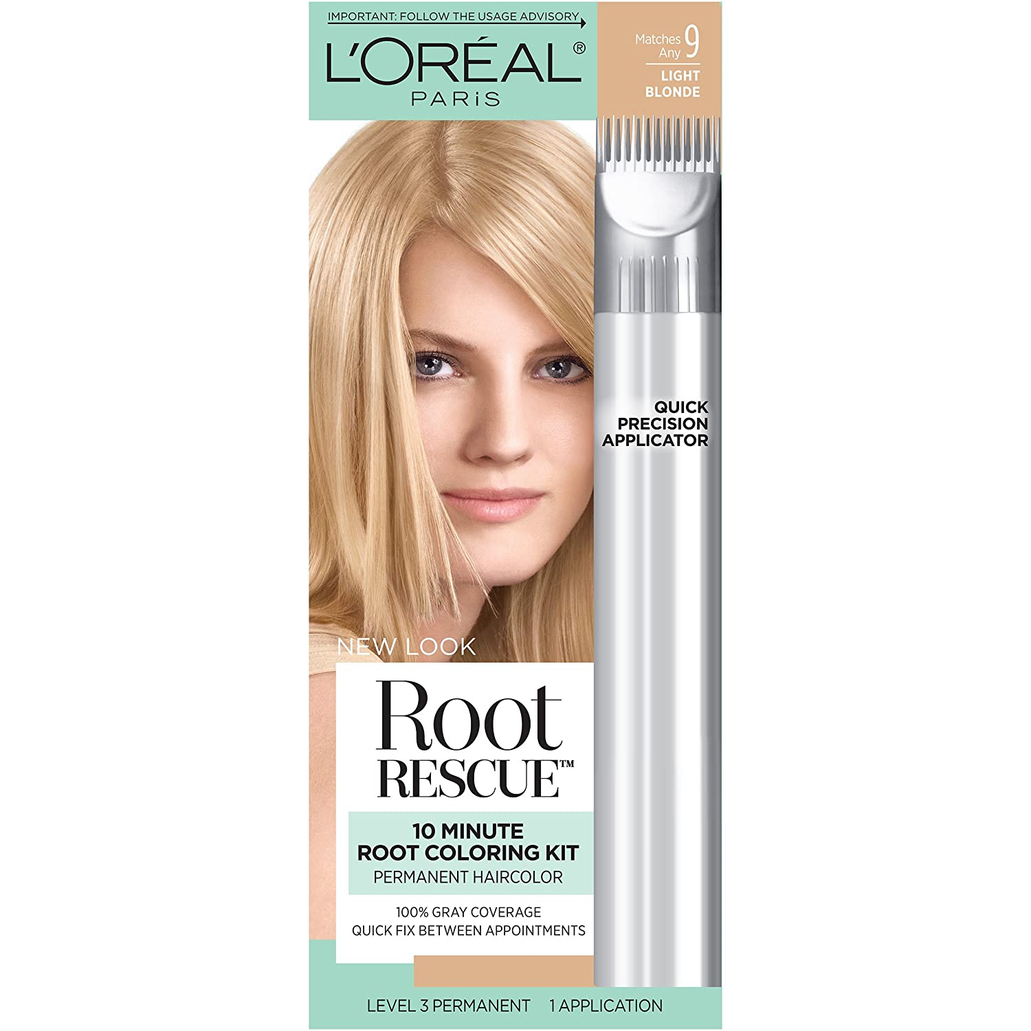 L\'Oreal Paris Root Rescue 10 Minute Root Coloring Kit, 9 Light Blonde