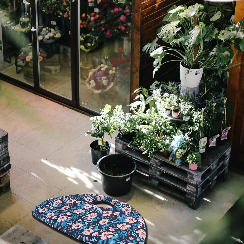 YARDWE Gardening Kneeler Pad Floral Sitting Cushion Soft Kneeling Cushion Extra Thick for Gardening Yoga Work Out Random Color