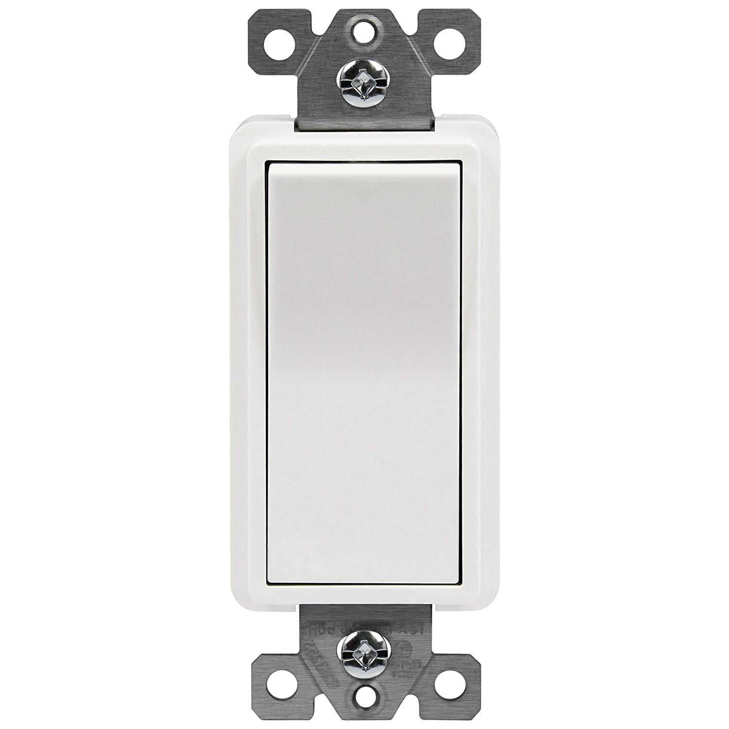 Rocker Light Switch >> Enerlites 4 Way Decorator Paddle Rocker Light Switch Clamp Down Wiring Grounding Screw Residential Grade 15a 120v 277v Ul Listed 94150 W White