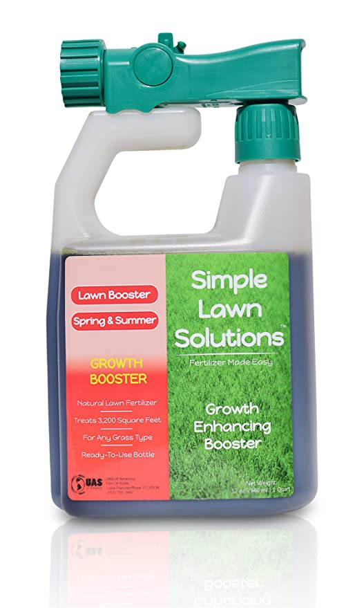 Extreme Grass Growth Lawn Booster- Natural Liquid Spray Concentrated Fertilizer with Fulvic & Humic Acid