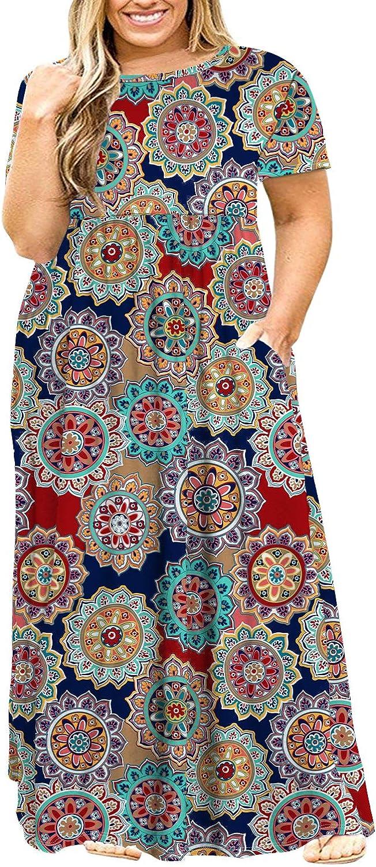 POSESHE Women's Plus Size Tunic Swing T