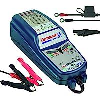 Optimate TM220-4A Tecmate 5 Start-Stop, TM-220, 6-stappen 12V 4A gesloten accu besparende lader & druppellader, optimate…