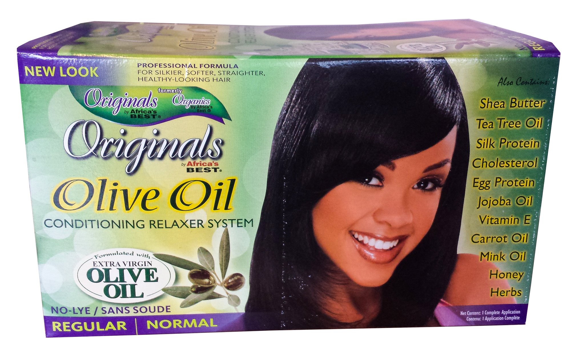 Africa's Best Originals Olive Oil Conditioning Relaxer System for Women, Regular/Normal