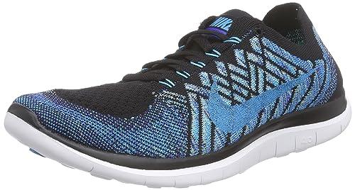 check out d6078 7e872 Nike Free 4.0 Flyknit - Zapatillas de Running de Material Sintético para Hombre  Azul Blau (Black/Blue Lagoon-Game Royal 004) 46,5: Amazon.es: Zapatos y ...