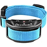 K9KONNECTION New Color Collars Dog No Bark Shock Collar Training System with Harmless Warning Beep & 7 Levels of Adjustable Sensitivity Control for Small, Medium & Large Dogs - Manual Included