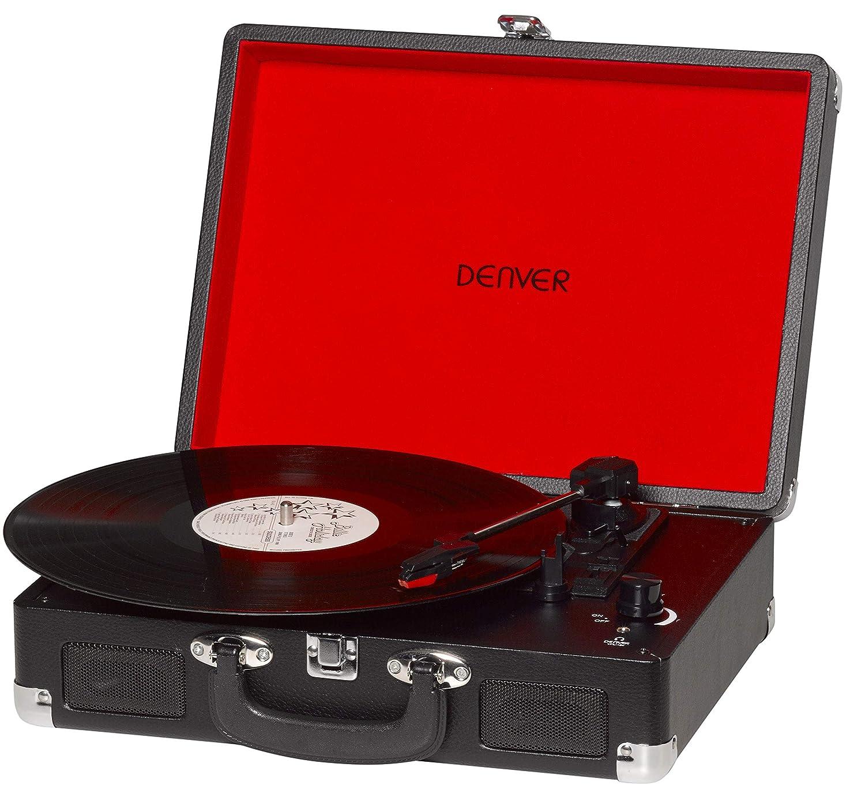 Denver VPL-120 - Tocadiscos con Altavoces y grabación de PC (2x1 W) Color Negro