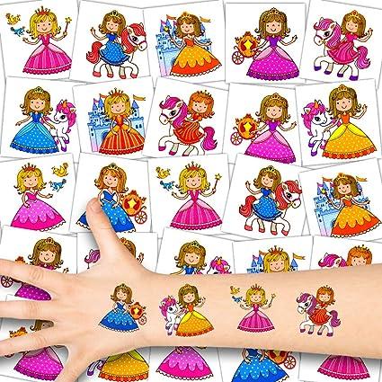German Trendseller® - 72x Princesa Niños Tatuajes - Conjunto ...