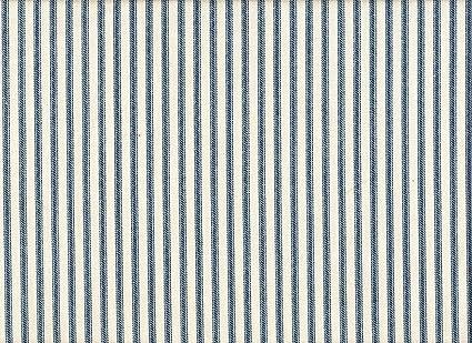 Amazon French Country Ticking Stripe Nautical Blue 75 X 72 Inch