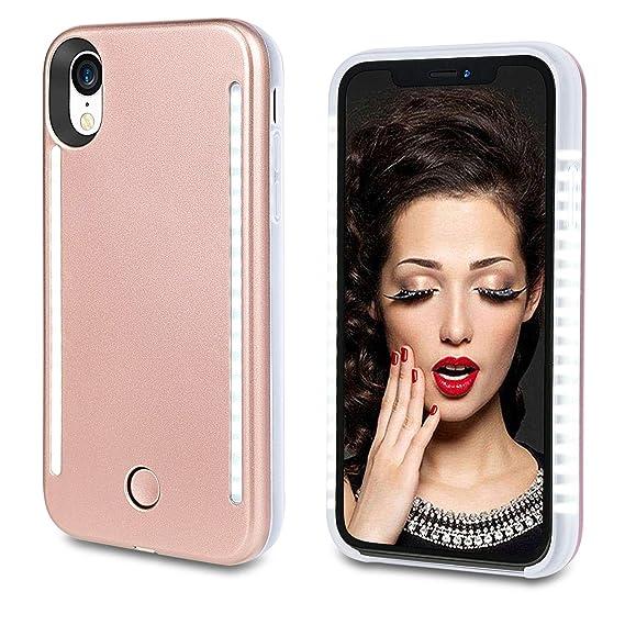 timeless design 8d4b9 f93f9 Amazon.com: Vanjunn Selfie Light up Case for iPhone X Xs, LED Case ...