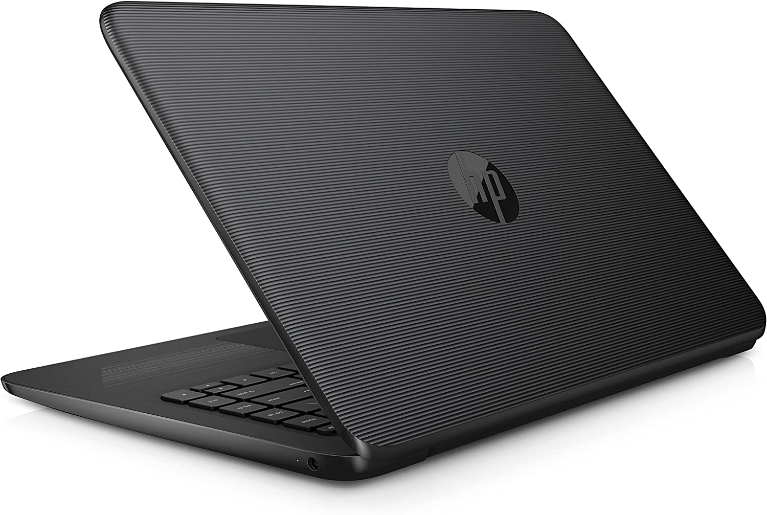"""HP Stream with an Ultra-Portable Design Laptop, 14"""" Screen, Intel Celeron N3060 Processor, 4GB RAM, 32GB eMMC Storage, Windows 10 Home, Office 365 Personal 1-Year Included, Jet Black"""