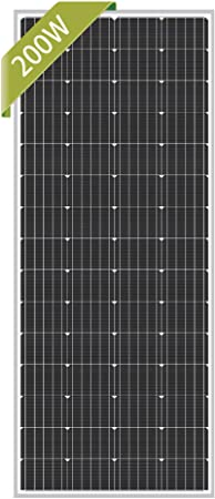 BougeRV 170W 12V Mono PV Solar Panel for Battery Charge Home Power Camping RV