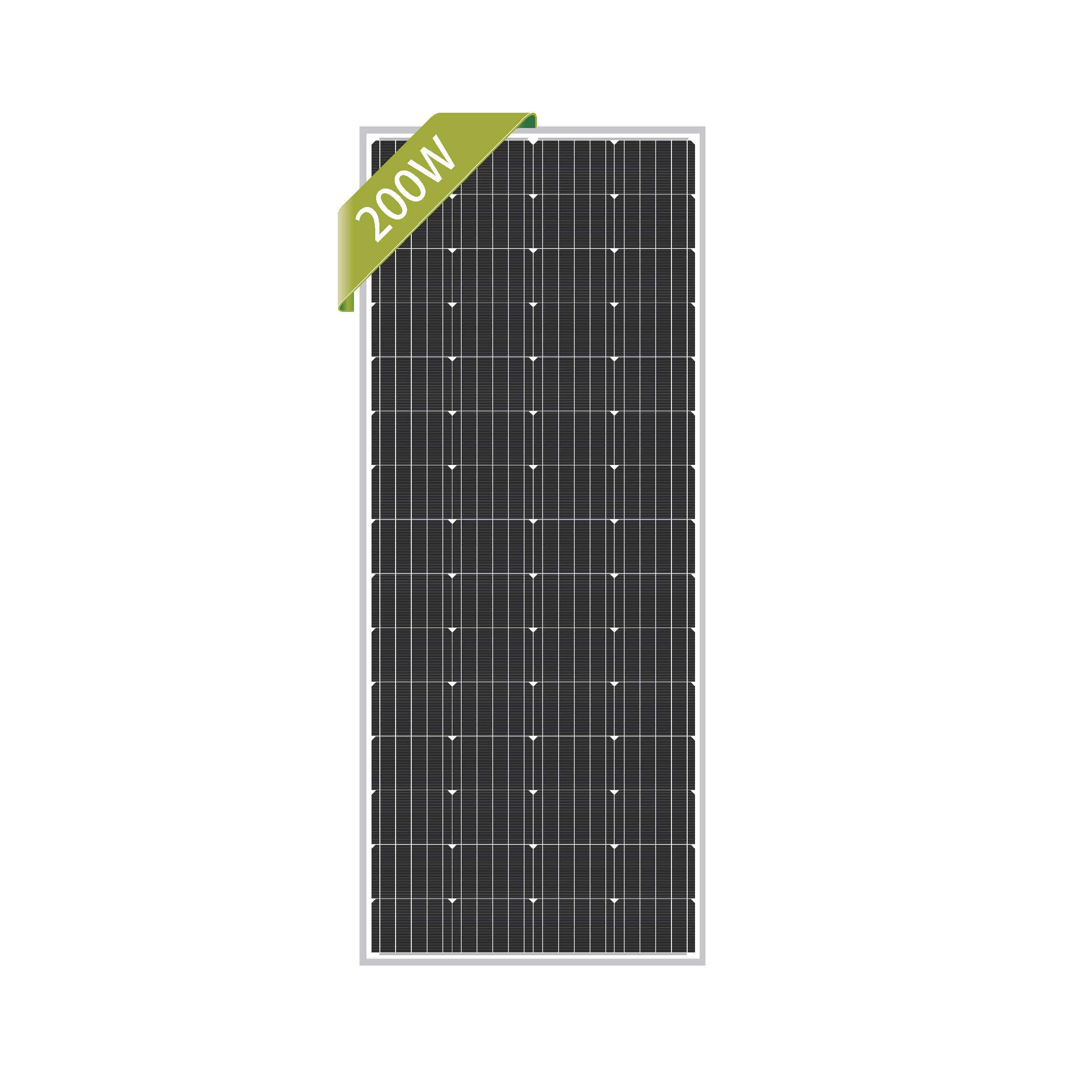 Newpowa 200W Monocrystalline 200 Watt 12V Solar Panel High Efficiency Mono Module RV Marine Boat Off Grid by Newpowa