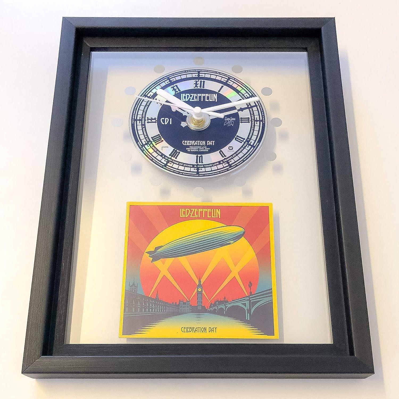 LED ZEPPELIN - Celebration Day: FRAMED CD ART CLOCK/Exclusive Design